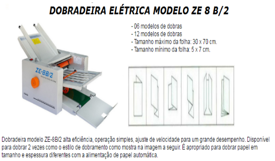 Dobradeira Elétrica Modelo ZE 8 B/2